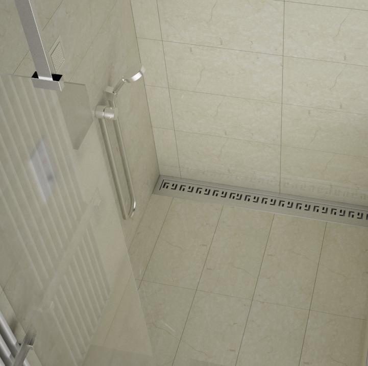 Ba o moderno canaleta para ducha de obra canal de ducha - Duchas de obra modernas ...