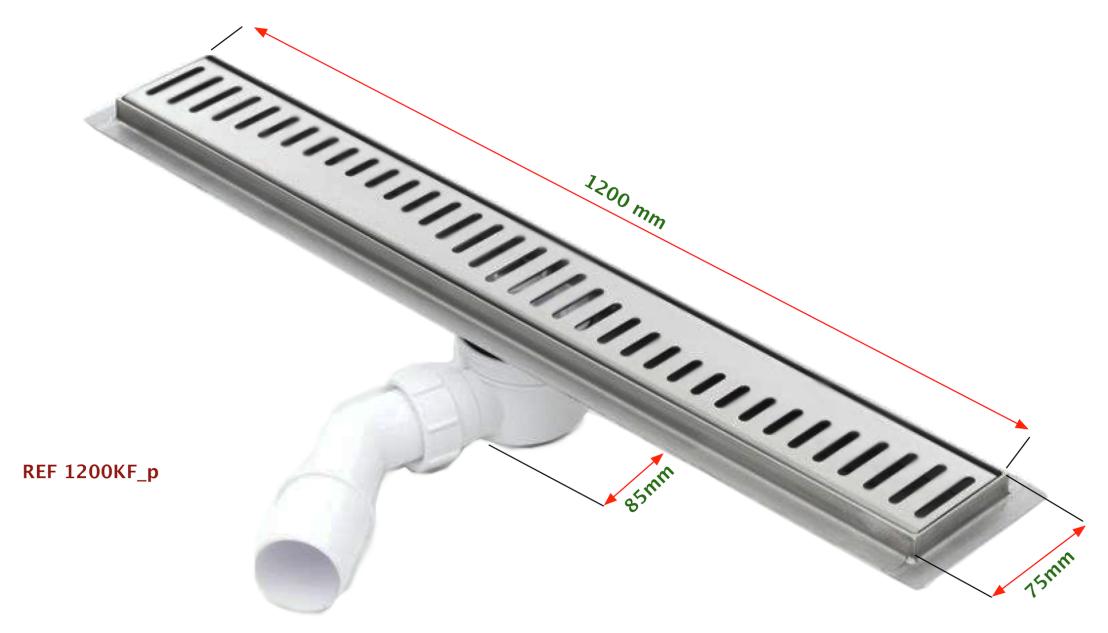 Canaleta ducha SILVER de longitud 1200mm